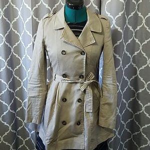 short skirted trench coat
